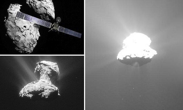 Rosetta spacecraft captures comet erupting from the surface
