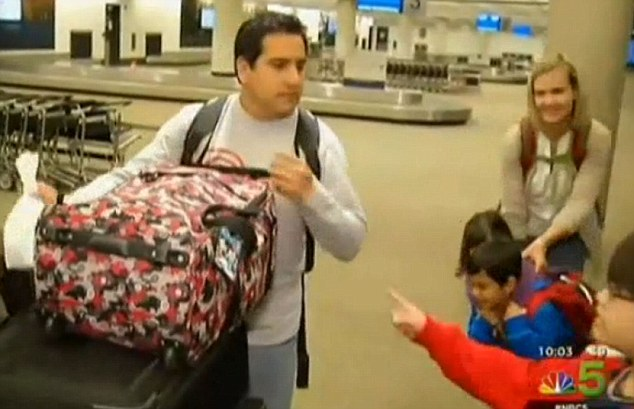 Passenger Frank Angelo said he immediately feared for the safety of his wife and kids as the plane 'nosedived' 30,000 feet in just eight minutes