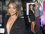 Mandatory Credit: Photo by Rob Latour/REX Shutterstock (4700507k)  Sarah Hyland and Dominic Sherwood  British Subjects rock photography exhibition, Los Angeles, America - 22 Apr 2015  British Subjects rock photography exhibition curated by Julian Lennon and Timothy White
