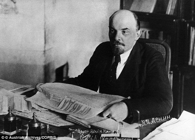 Vladmir Lenin was behind the Bolshevik take-over of power in Russia in 1917. He was also the architect and first head of the USSR. He is pictured here in 1918, six years before his death