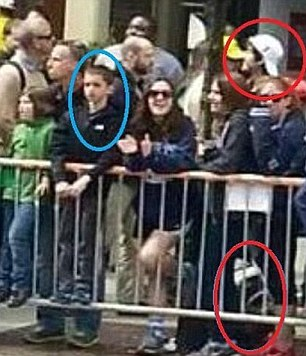 A military combat surgeon testified at the Boston bomber's trial on Thursday that victim Martin Richard, eight, suffered 'visceral pain' when Tsarnaev's bomb (right) exploded and before he died on the street