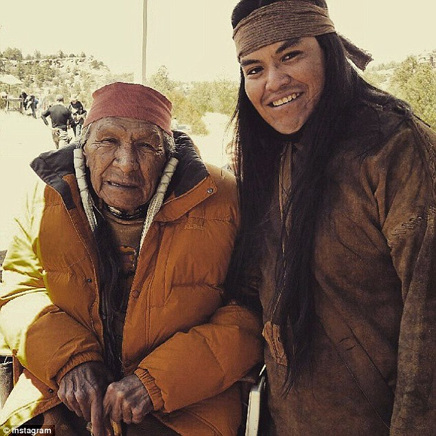 Anthony (on right with actor Saginaw Grant) said the film was offensive towards Native American women