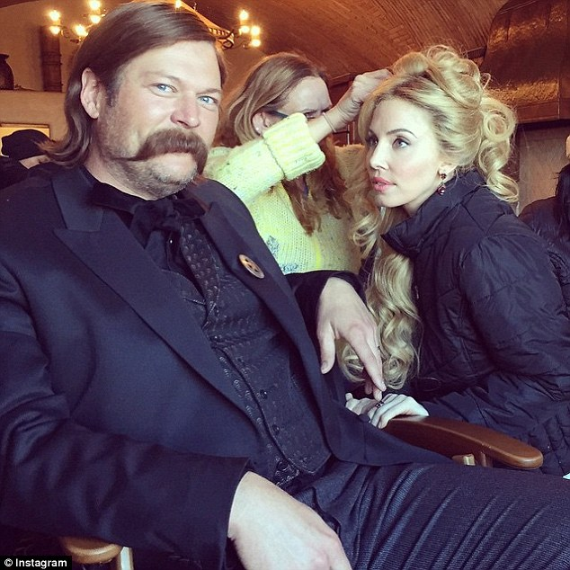 Blake Shelton (above with Whitney Cummings) has a small role in the film