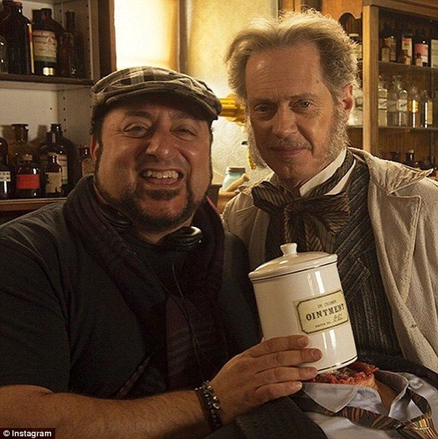 Steve Buscemi also has a role in the film (above with director Coraci)