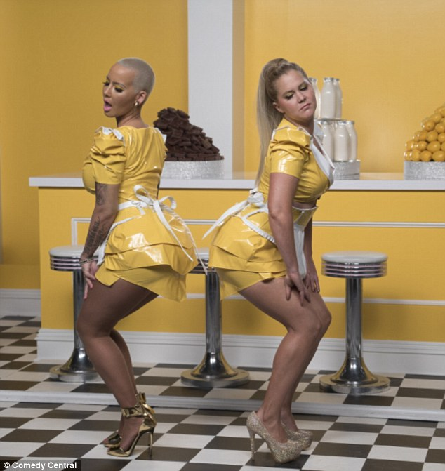 Making fudge with Amber Rose (L): The MTV Movie Awards host currently stars in the third season of Inside Amy Schumer, which airs Tuesdays on Comedy Central