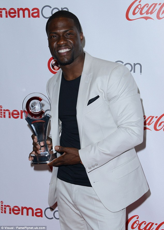 He has a lot of Hart:The Wedding Ringer funnyman scored the Comedy Star award while looking sharp in a pale grey suit