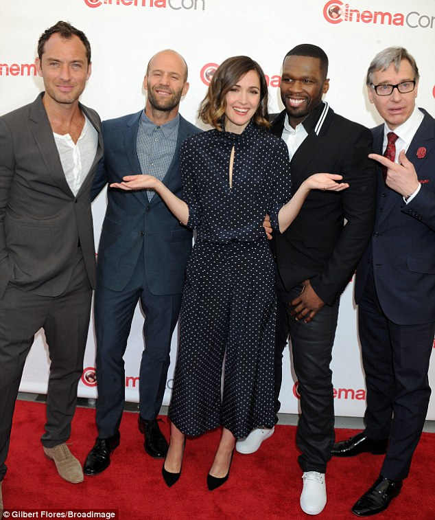 Undercover: The Annie actress goofed around with her upcoming Spy co-stars Jude Law, Jason Statham, Curtis '50 Cent' Jackson, and director Paul Feig