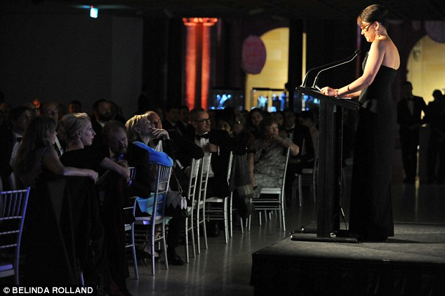 Supportive friend! The couple watched on from the front row as Ildiko accepted the award at the intimate dinner