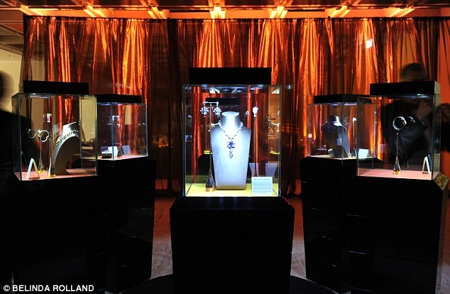 Different type of art! Guests were also treated to a showcase of Bulgari jewellery