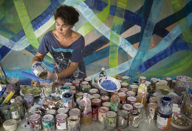 Onda: The 52-year-old, who has been painting for over 30 years, says she was inspired by the NSW South Coast