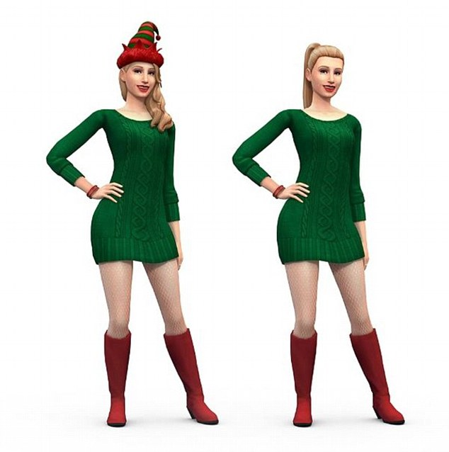 Naughty or nice? Iggy promoted the Sims 4 at Christmas