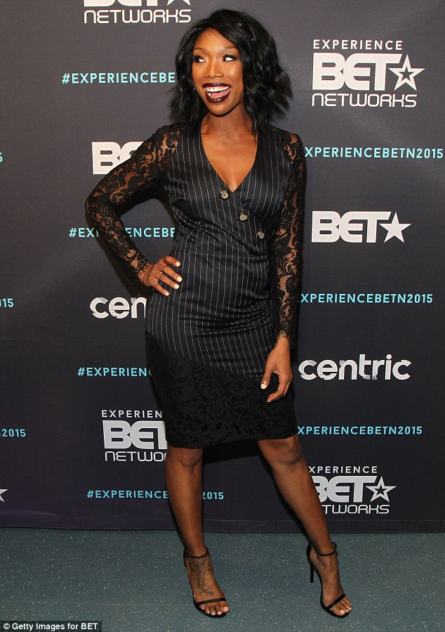 Over the moon: The 36-year-old star was on hand to celebrate her new show Zoe Moon coming soon to BET