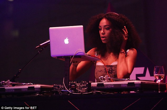 Girl of many talents: Beyonce's younger sister also provided the entertainment behind the DJ booth