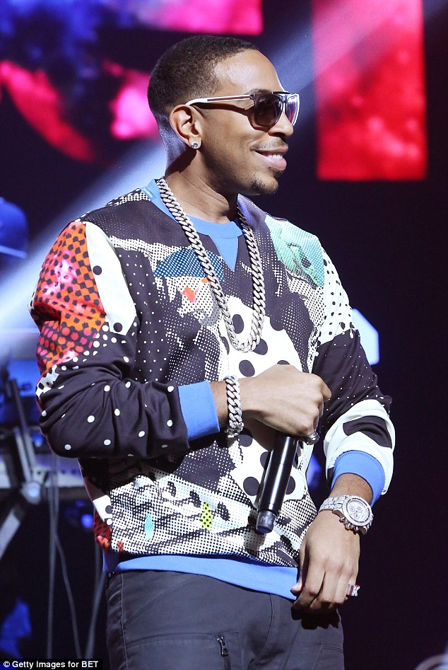 Star line-up: Ludacris was pumped up as he entertained the crowd too at the event