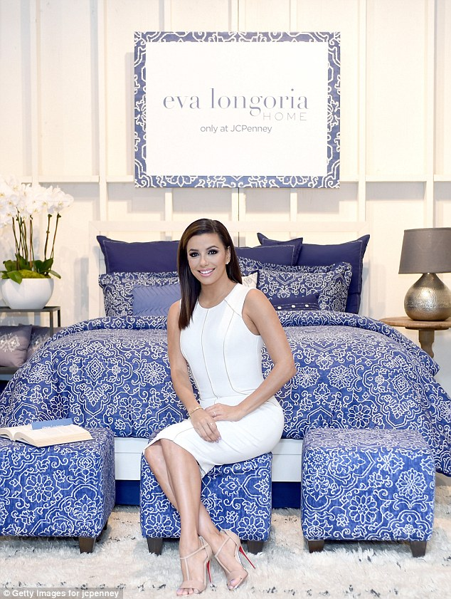 Star qualities: JC Penny's partnership with Eva came about due to her approach to design and because she is known 'for her classic style and timeless beauty,' according to a press release