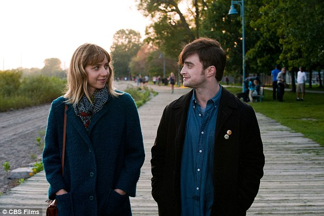 Leading man: The British actor - pictured with What If co-star Zoe Kazan - was recently cast as the lead in a BBC TV movie about the men behind controversial videogame Grand Theft Auto