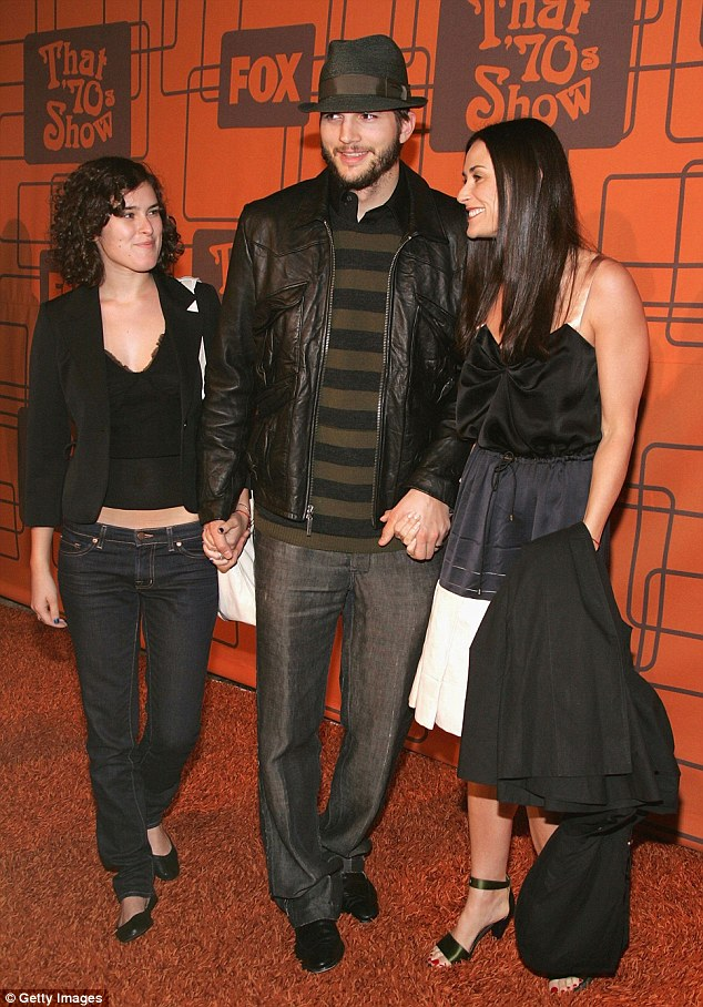 Part of the family: Ashton and Demi made sure to include Rumer when they attended red carpet events together, such as the That 70s Show wrap party in Hollywood in 2006