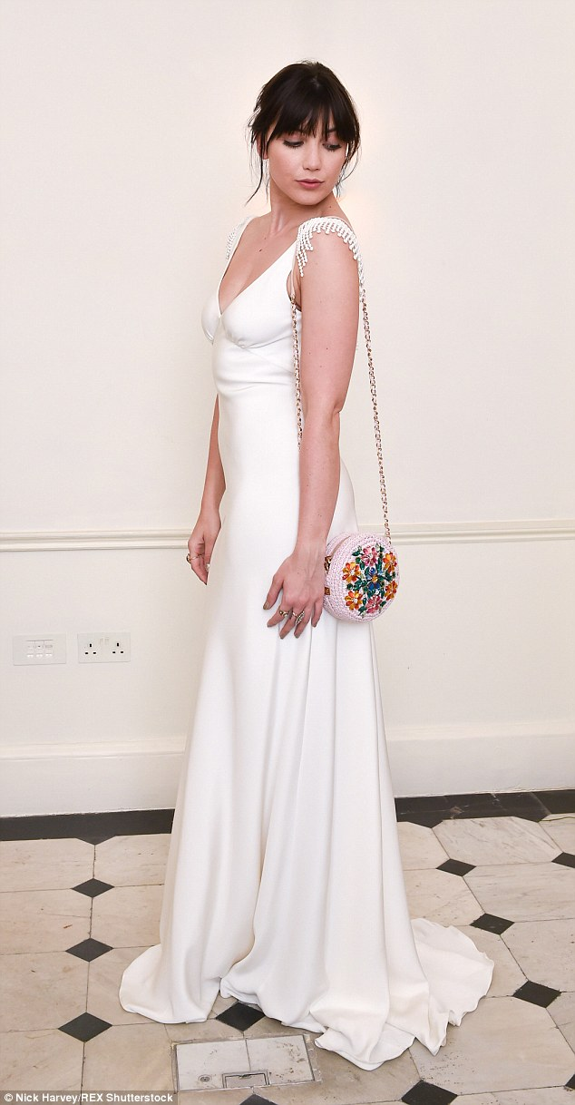 Elegant: The star lead the glamour at the perfume bash, which was attended by a host of British fashion stars
