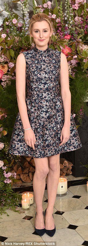 Pretty as a picture: Downton Abbey star Laura Carmichael wowed in her structured dress