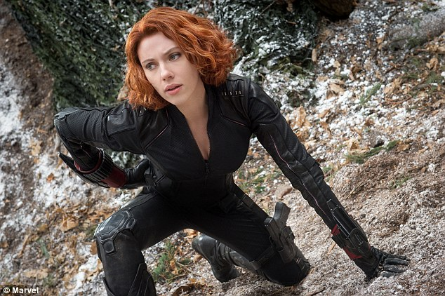 Backlash: The actors were criticised for the words they used to describe Black Widow, seen in a scene from the new movie Avengers: Age Of Ultron