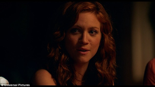 Emotional: Chloe (Brittany Snow) kicks off the group song