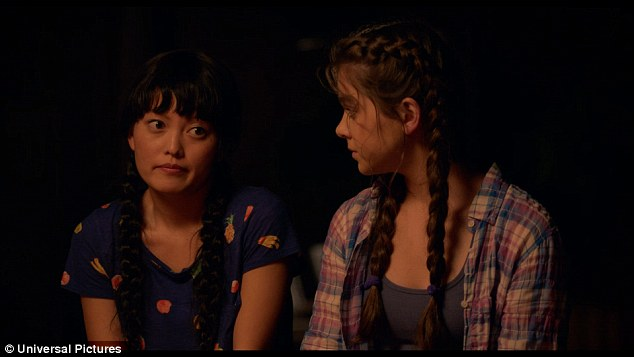 Not ready for it to be over: Lilly (Hana Mae Lee) and Emily (Hailee Steinfeld) look sad