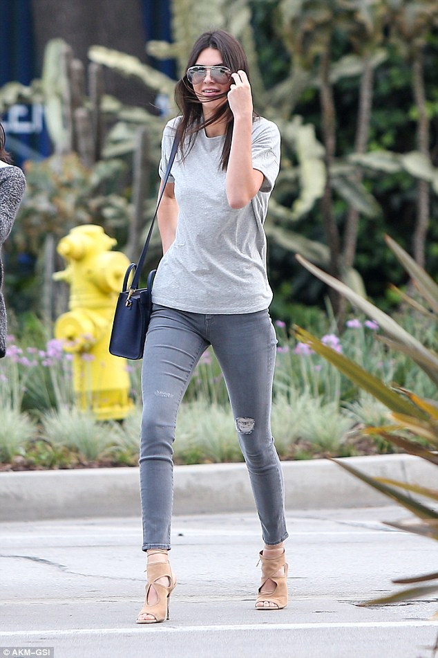 Simply does it: Kendall Jenner rocks skinny jeans and heels for a shopping trip in LA