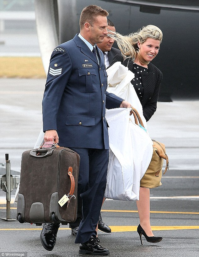 Helping out: The 28-year-old, pictured here in Wellington, also accompanied Kate on the tour Down Under