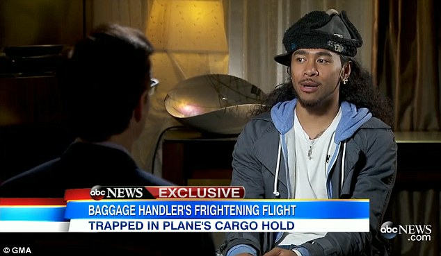Making headlines: Junior, who appears to be in his early 20s according to Facebook, sat down for an interview with ABC News to speak about the harrowing and embarrassing experience