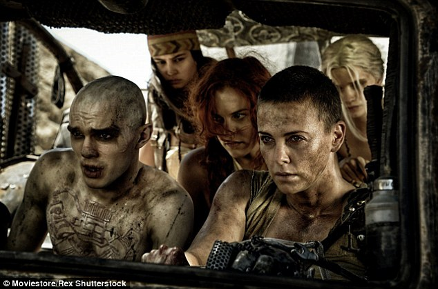 Bold: She shaved her hair for the role - pictured in Mad Max: Fury Road with Nicholas Hoult