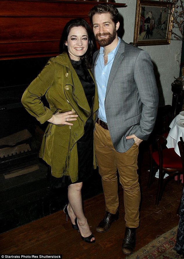 On the list: Matthew Morrison and his Finding Neverland co-star, Laura Michelle Kelly, were among the guests