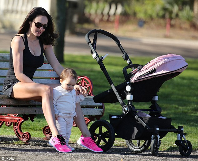 Lavish:Sophia certainly doesn't want for anything, celebrating her first birthday party last month with one of the most lavish children's birthday parties ever