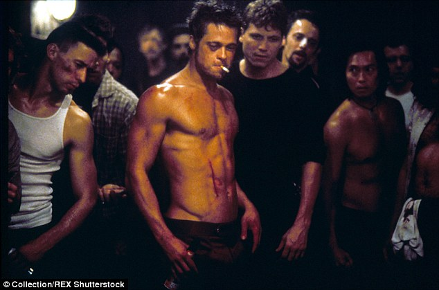 Gym goals: The star has revealed previously that his inspiration was to be able to get the abs of Brad Pitt in Fight Club, and seems he is well on his way