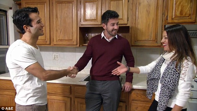 Final decision: Ryan and Jaclyn can be seen shaking their realtor's hand after they agree on their first apartment together