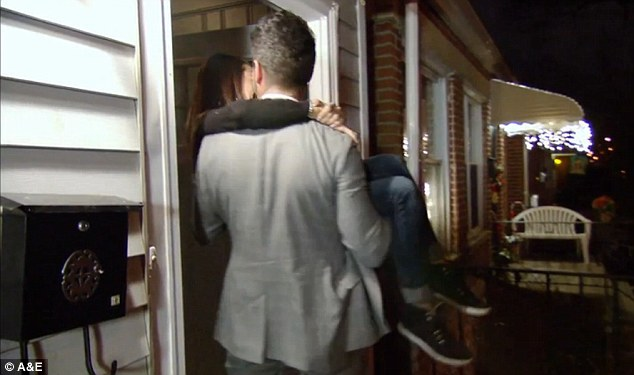 Newlyweds: When they arrived at their new place, Ryan carried Jaclyn over the threshold