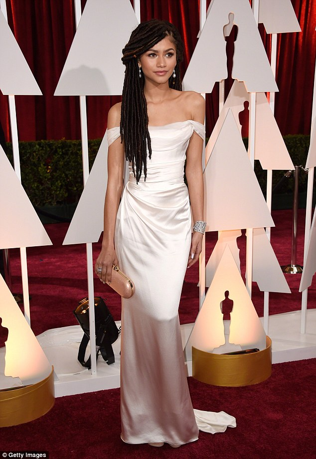 Making a statement: 'My wearing my hair in locs on an Oscar red carpet was to showcase them in a positive light, to remind people of color that our hair is good enough,' Zendaya has said of her hairstyle at the Oscars
