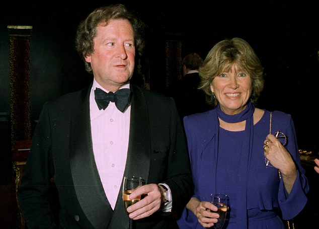 Family legacy: West's wife Catherine is the daughter of the 29th and last Knight of Glin, Desmond Fitzgerald (pictured with his wife in 1997) who died in 2011.His title vanished with him as he had no male heir