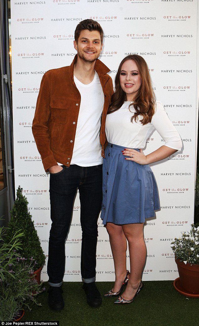 YouTube sensations: Vlogger and make-up expert Tanya Burr and her boyfriend Jim Chapman were also in attendance at the launch party