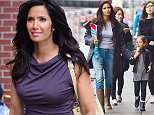 Mandatory Credit: Photo by REX Shutterstock (4705539h)  Padma Lakshmi and daughter Krishna Lakshmi  Padma Lakshmi out and about, New York, America - 22 Apr 2015