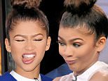 Mandatory Credit: Photo by Startraks Photo/REX Shutterstock (4700356r)\n Zendaya\n 'Good Morning America' TV show, New York, America - 22 Apr 2015\n Zendaya, KaDee Strickland and Michiel Huisman Visit Good Morning America\n