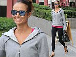 Stacy Keibler out and about in West Hollywood in mirrored sunglasses and sportswear Featuring: Stacy Keibler Where: Los Angeles, California, United States When: 22 Apr 2015 Credit: WENN.com