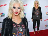 """""""The Voice"""" Spring Break Concert at the Pacific Design Center in West Hollywood on April 23, 2015.\n\nPictured: Christina Aguilera\nRef: SPL1005917  230415  \nPicture by: Splash News\n\nSplash News and Pictures\nLos Angeles: 310-821-2666\nNew York: 212-619-2666\nLondon: 870-934-2666\nphotodesk@splashnews.com\n"""