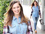 Picture Shows: Kelly Brook  April 23, 2015    British actress and model Kelly Brook is seen leaving a hair salon in Beverly Hills, California. It's back to business as usual for Kelly, who recently enjoyed the Coachella Valley Music and Arts Festival in Indio.    Non Exclusive  UK RIGHTS ONLY    Pictures by : FameFlynet UK © 2015  Tel : +44 (0)20 3551 5049  Email : info@fameflynet.uk.com