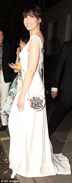 All smiles: Daisy was beaming as she exited the venue that night