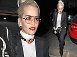 23 Apr 2015 - LONDON - UK  RITA ORA CHANNELS HER INNER KARL LAGERFELD AS SHE VISITS THE GROUCHO CLUB AND LATER RETURNING HOME ON WEDS 22ND APRIL. BYLINE MUST READ : XPOSUREPHOTOS.COM  ***UK CLIENTS - PICTURES CONTAINING CHILDREN PLEASE PIXELATE FACE PRIOR TO PUBLICATION ***  **UK CLIENTS MUST CALL PRIOR TO TV OR ONLINE USAGE PLEASE TELEPHONE   44 208 344 2007 **