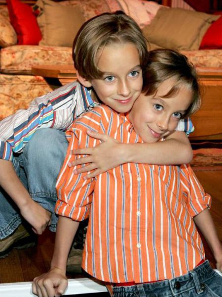 """FILE - APRIL 23: Actor Sawyer Sweeten, known for his role on """"Everybody Loves Raymond"""", has reportedly killed himself at the age of 19. SANTA MONICA, CA - APRIL 28:  Actors Sullivan Sweeten (R) and Sawyer Sweeten attend the Everybody Loves Raymond Series Wrap Party at Hanger 8 on April 28, 2005 in Santa Monica, California.  (Photo by Kevin Winter/Getty Images)"""