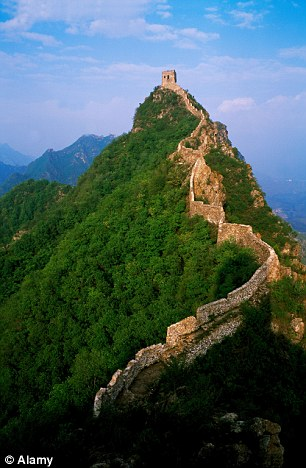 The Great Wall of China (pictured) can also not be seen from space despite the popular belief that it can