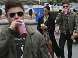 136103, Zac Efron and girlfriend Sami Miro grab smoothies at Oaks Gourmet in Los Feliz. Los Angeles, California. Los Angeles, California - Thursday April 23, 2015. Photograph: Juan Sharma/Bruja, © PacificCoastNews. Los Angeles Office: +1 310.822.0419 sales@pacificcoastnews.com FEE MUST BE AGREED PRIOR TO USAGE