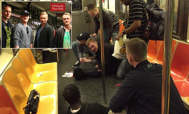 Swedish cops on vacation in New York stop a brutal assault on subway