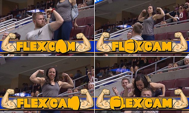 Man caught on Philadelphia Soul's Flex Cam out-flexed by a woman